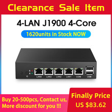 Tanpa Kipas Mini PC Pfsense Celeron J1900 Quad Core 4 Gigabit LAN Firewall Router Windows 10 Thin Client 4 RJ45 VGA komputer Mini(China)