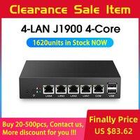 Fanless Mini PC pFsense Celeron J1900 Quad Core 4 Gigabit LAN Firewall Router Windows 10 Thin Client 4 RJ45 VGA Mini Computer