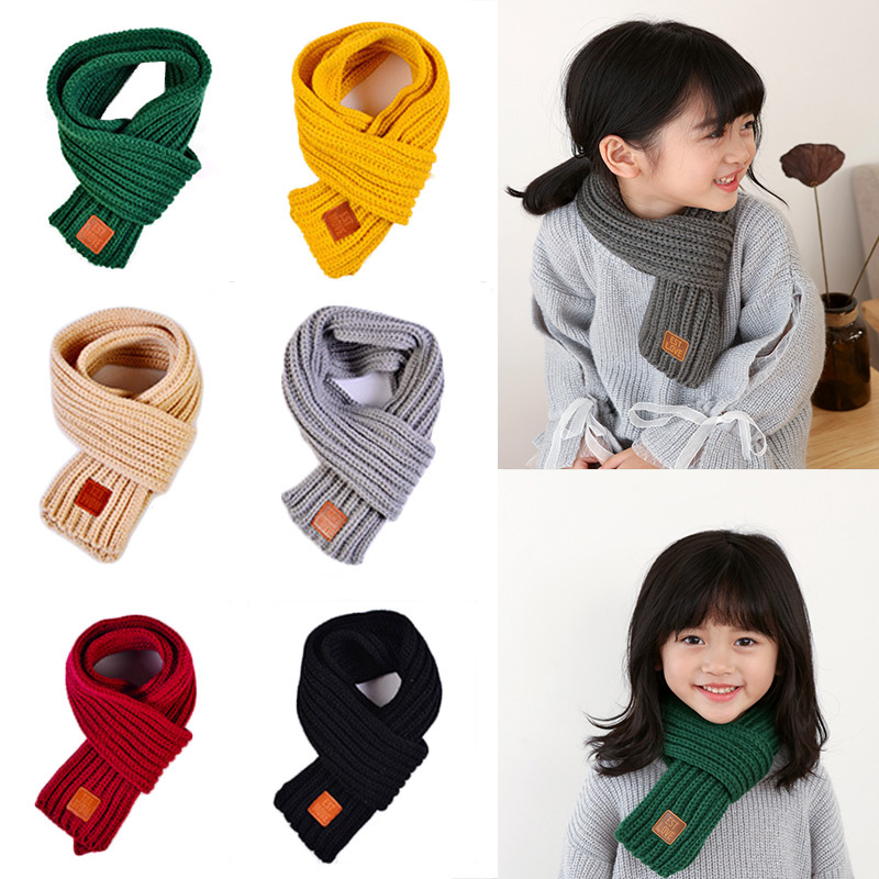 High Quality Baby Scarf 13 Colors Autumn Winter Baby Boys Girls Warm Knitted Scarf Kids Keep Warm New Scarf Clothing Accesories