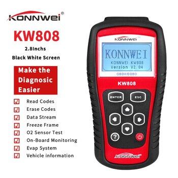 KONNWEI KW808 Professional OBDII/EOBD, lector de código de coches y escáner automático, decodificador de detección automotriz, herramienta de escaneo de diagnóstico