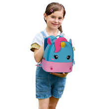 цены на S M L Size Children School Backpack kids bag Cartoon Rainbow Unicorn Design For Toddler Baby Girls Kindergarten Kids School Bags в интернет-магазинах