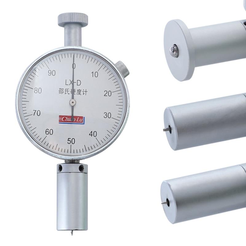 0-100HA Hardness Tester Alloy Bearing Steel Hardness Meter For Rubber,Sponge,Plastic Shore Durometer Measuring Tools