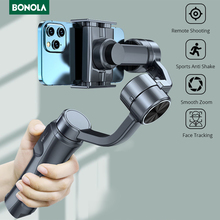 Bonola מתקפל 3 ציר כף יד Gimbal Smartphone מייצב Selfie מקל עבור iPhone 12 11 X XS כף יד Gimbal עבור סמסונג S21