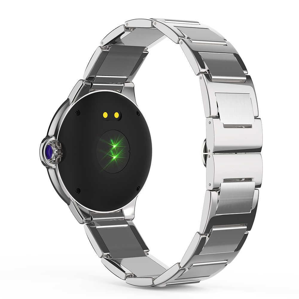 DR88 femmes hommes montre intelligente saphir verre écran Ultra-mince corps fréquence cardiaque sommeil bluetooth longue veille mode montre intelligente
