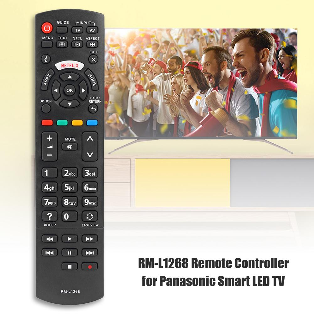 Smart LED TV Remote Control RM-L1268 for Panasonic Netflix N2Qayb00100 Television Remote Control Replacement Home TV Accessories