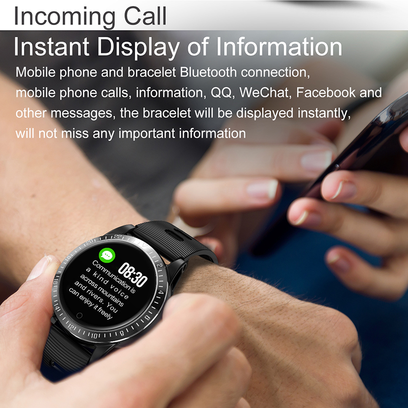 Bracelet intelligent moniteur de pression artérielle fréquence cardiaque montre intelligente Mp3 bracelet intelligent tracker de fitness pour huawei ios PK mi bande 4 - 6