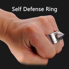 Outdoor Rvs Zelfverdediging Tactische Ring Leveranties Zelfverdediging Product Wapens Ring Survival Tool Pocket Vrouwen Beschermen