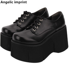 Pumps Women Platform-Shoes Angelic Imprint Lolita Princess-Dress High-Heels Cosplay Lady