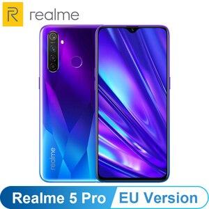 Image 1 - Eu バージョン oppo realme 5 プロ (RMX1971) 6.3 4/8 ギガバイト 128 ギガバイトの android 1080p オクタ · コア 4035 mah 48MP クワッドカメラ vooc 高速充電 3.0