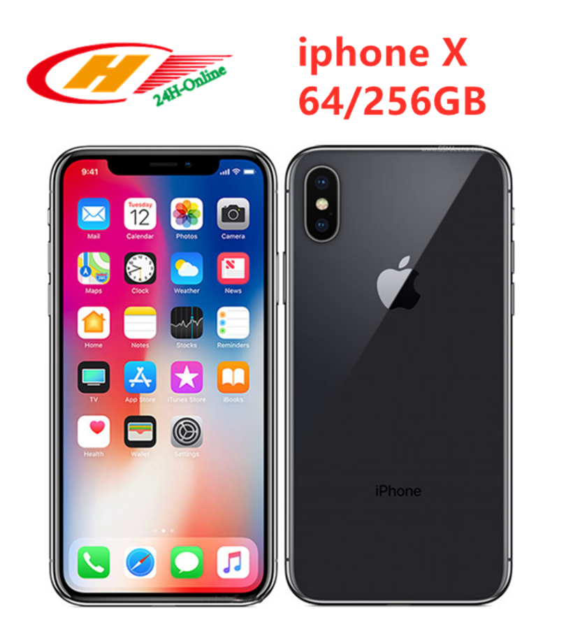 Apple iPhone X Unlocked Face ID LTE 5.8 inch Hexa Core IOS  RAM 3GB ROM 64/ 256GB title=