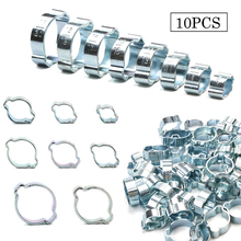 10pcs 5-20mm Double Ears Clamp Hose Clamps Worm Drive Fuel Pipe Clip Water Hose Pipe Clamps Clips Hose Fuel Clamps