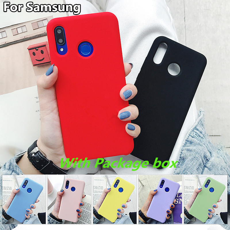 Original Official Genuine Silicone Soft Cover For <font><b>Samsung</b></font> Galaxy A10 A20 A30 A40 <font><b>A50</b></font> A70 A90 S8 S9 S10 Plus Note8 9 10 Pro <font><b>Case</b></font> image