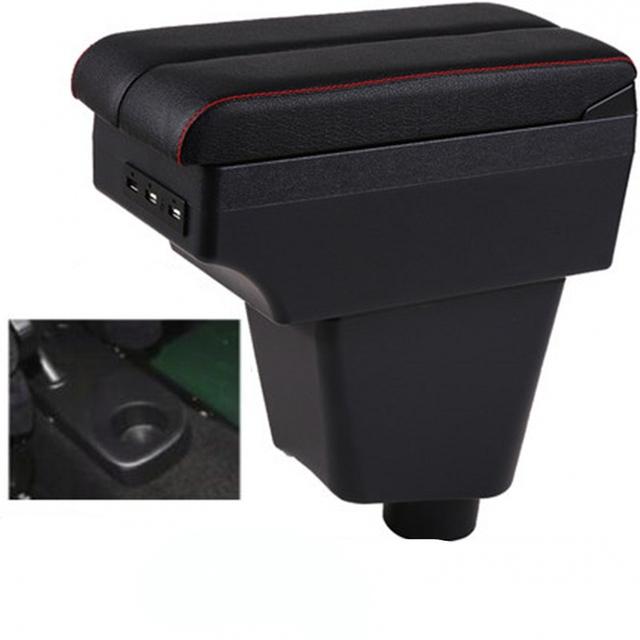 Pour Renault Clio 4 accoudoir boîte centrale contenu boîte intérieur Clio 4 accoudoirs rangement voiture-style accessoires pièce avec USB