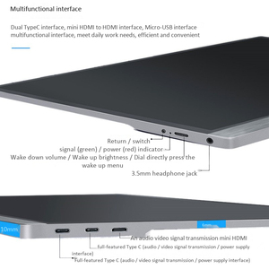 Image 5 - 15.6 4K USB 3.1 Type C Contact Screen Portable Monitor for Ps4 Switch Phone Gaming Monitor Laptop LCD Display