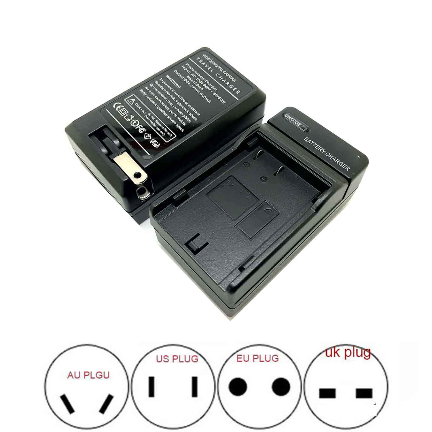 <font><b>Battery</b></font> Charger <font><b>NP80</b></font> for FUJIFILM FinePix 700Z, 2700, 2900Z, 4800, 4800 ZOOM, 4800Z, 4900, 4900 ZOOM image