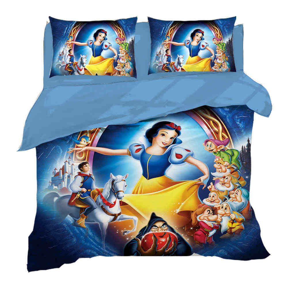 Disney Snow White Princess Bedding Set Twin Size Bed Linens Queen Quilt Duvet Covers For Girls Bedroom Kids Home Textile 3 Pcs Bedding Sets Aliexpress