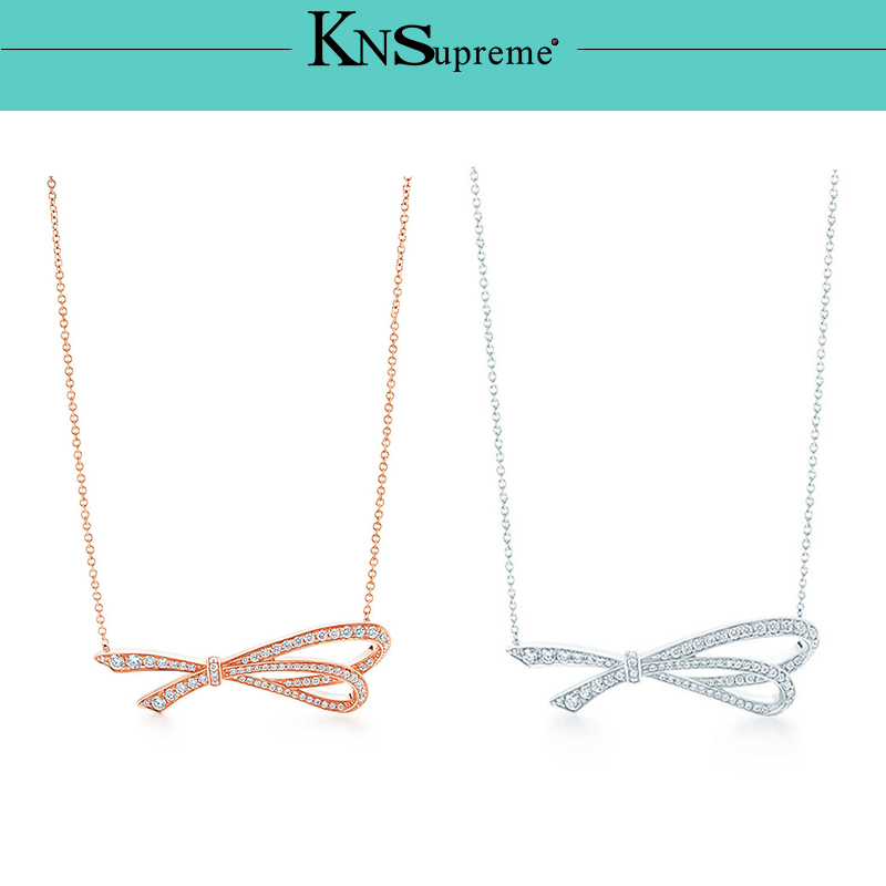 Bulgaria Rose gold necklace Original 100 925 Sterling Silver Women Free Shipping Jewelry High end Quality Gift in Chain Necklaces from Jewelry Accessories