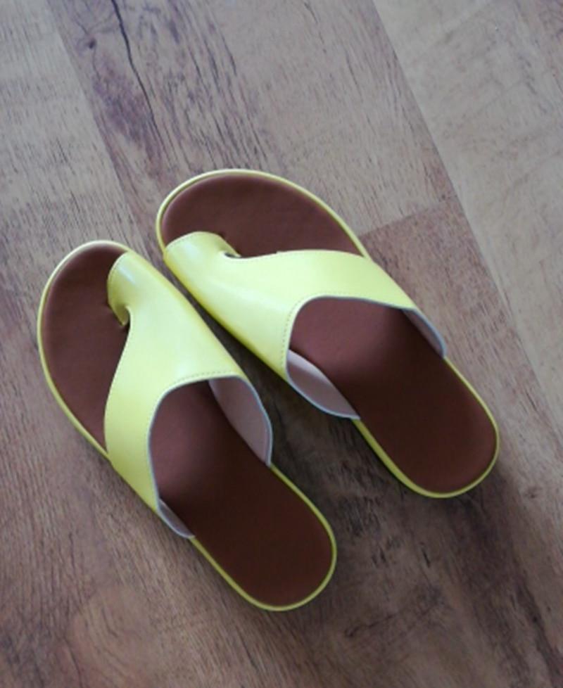 H1e311657eeda4fd2b2c3cc78a0e57f34q Puimentiua Women slippers Flat Sole Casual Soft Big Toe Foot Sandal Women Shoes Comfy Platform Orthopedic Bunion Corrector