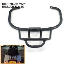 Suporte traseiro para motocicleta, rack de alumínio preto para bagagem e celular com cnc gts 300