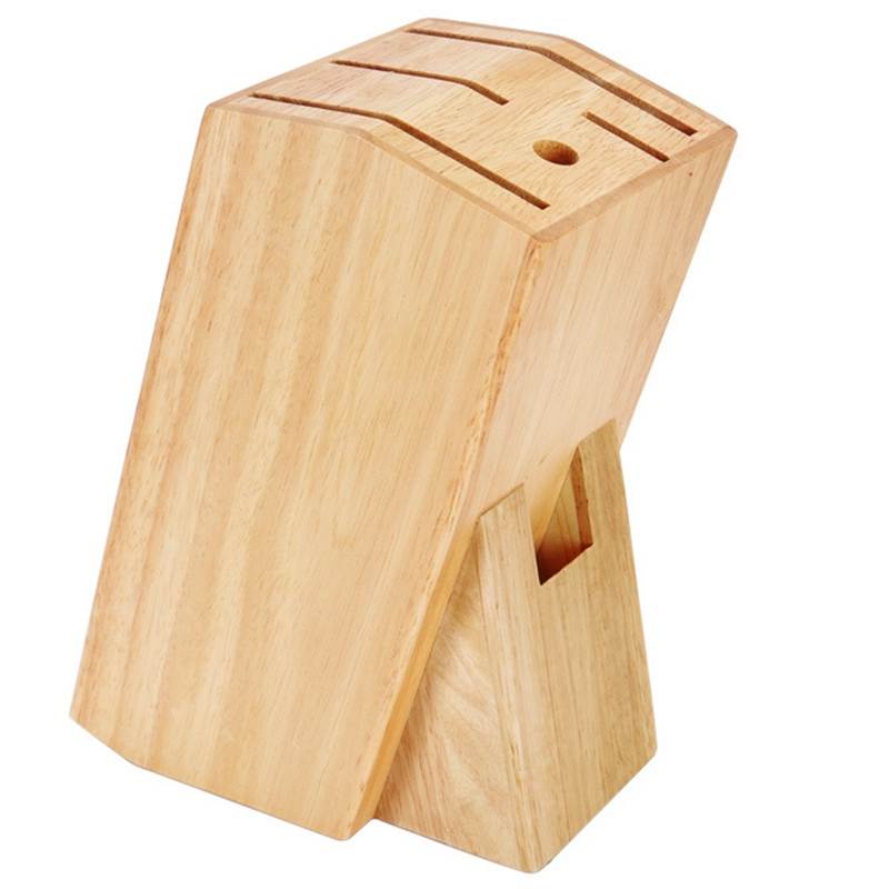 Wood Knife Holder Bamboo Knife Block Stand Knives Storage Shelf Rack Storage Box Organizer Kitchen Accessories Tool