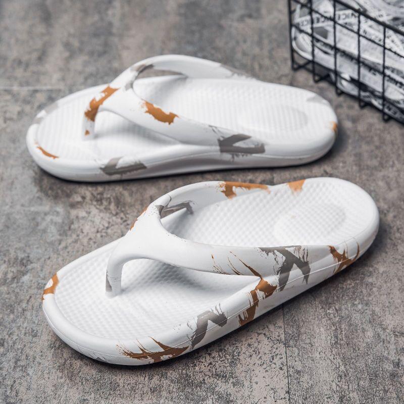 Topvivi men flip flops summer luxury brand slippers for beach Slippers 2021 fashion Women Non-slip Outdoors Bath Slippers white