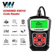 Konnwei kw310 obd2 ferramenta de verificação diagnóstico do carro leitor código automotivo com russo obd 2 scanner ferramentas automáticas pk elm 327 v 1 5 as100