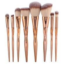 Gujhui pro 8 шт набор металлических кистей для макияжа косметическая