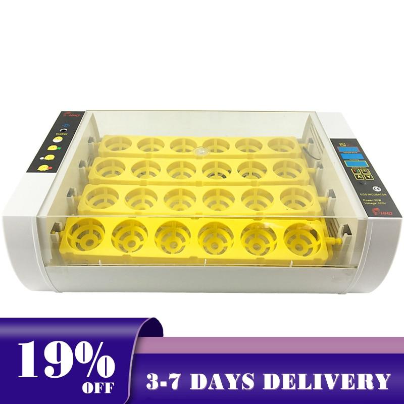 Automático 24 incubadora de ovos fazenda brooder inteligente led controle digital incubadora incubadora incubadora para codorna pato peru ovo