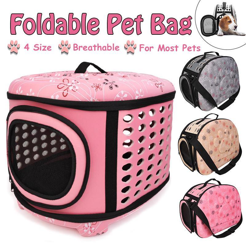 Seyahat köpek taşıma çantası taşınabilir katlanır evcil hayvan kafesi taşıma çantaları çanta kedi köpek yavrusu için gine domuz Hamster