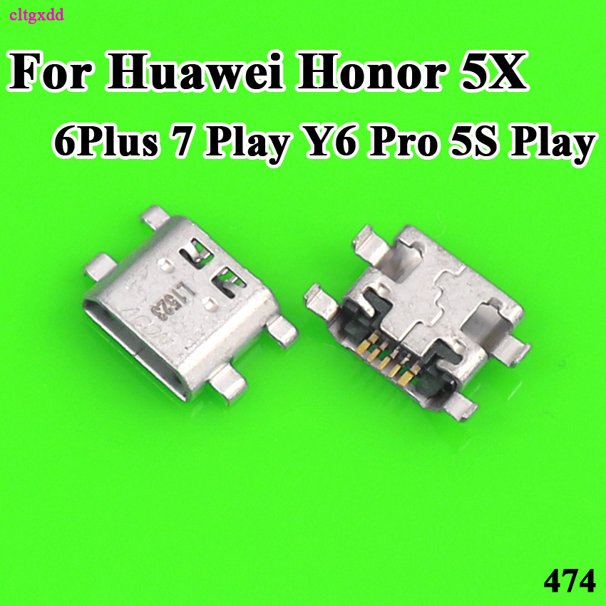 Cltgxdd 10pcs For Huawei Honor 5X Play 6 Plus 7 Y6 Pro 5S Play Micro USB Power Charging Port Jack Connector Plug Female Socket