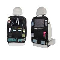 터치 스크린 태블릿 홀더 컴 파트먼트가있는 자동차 뒷좌석 주최자 어린이를위한 킥 매트 카시트 백 프로텍터