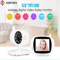 Nuevo 3,5 pulgadas 2,4 GHz vídeo inalámbrico Color LCD Digital Monitor de bebé de alta resolución visión nocturna bebé Nanny cámara de seguridad