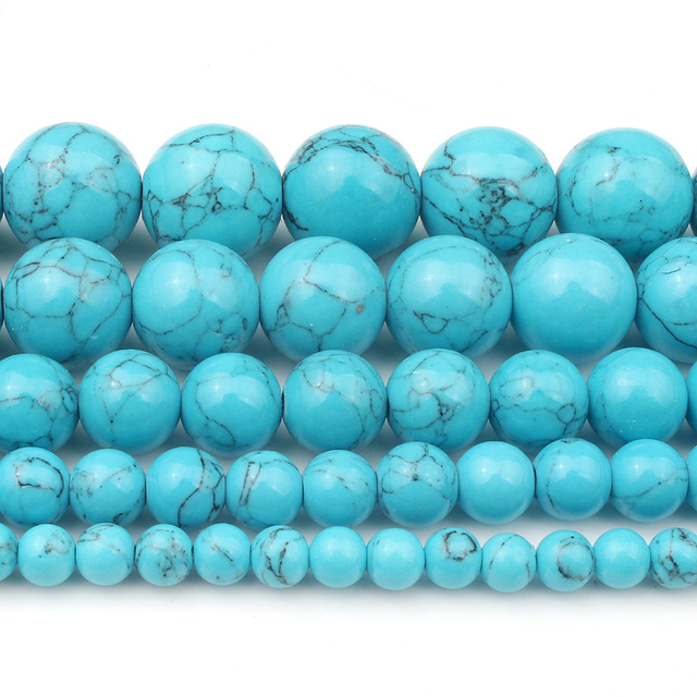 4/6/8/10/12mm Natural Turquoises Bead 1