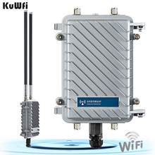 KuWfi 300Mbps Outdoor Router 500mW Wireless Bridge&Repeater WiFi Signal Amplifier Long-Range Access Point CPE Router 2*18dBi(China)