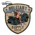 Автомобильные наклейки JumpTime 13 см x 12,5 см, сексуальные военные принадлежности, брошь со щитом, значок для девушки, автомобильный двигатель, де...