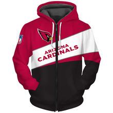 Arizona fashionable american football cardinals zipper hoodies