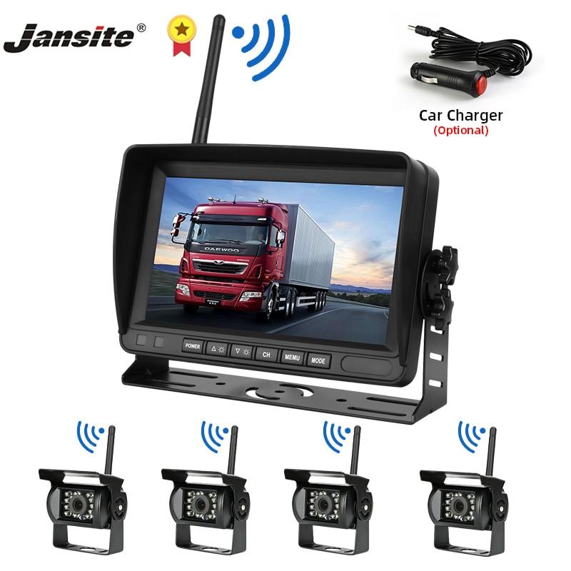 Jansite Беспроводная Автомобильная ЖК-монитор грузовика 7
