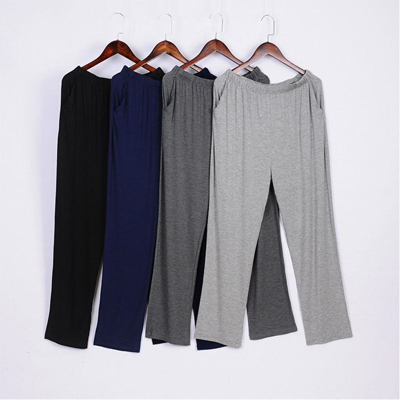 2021 New Men Women Homewear Sleep Pants Modal Casual Loose Pajamas Plus Size Soft Comfortable Trousers Solid Sleep Bottom 4XL