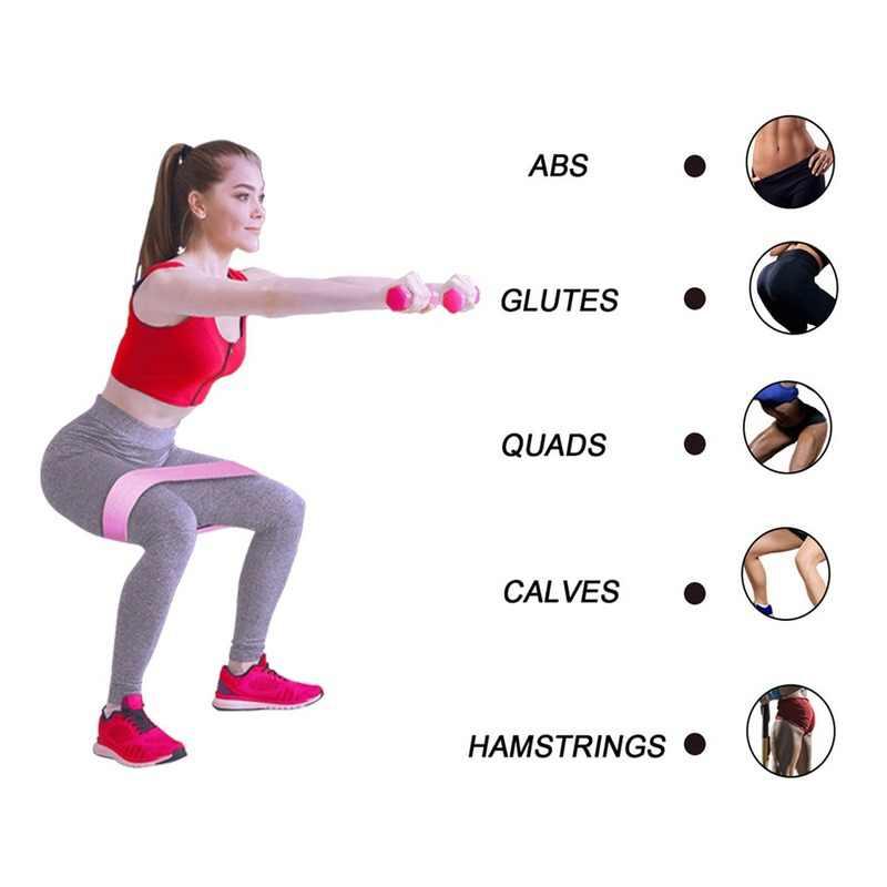 2019 trwałe Hip koło zespół jogi antypoślizgowe Gym Fitness gumowe zespół ćwiczenia pleciony elastyczny pasek Hip podnoszenia odporność na zespół