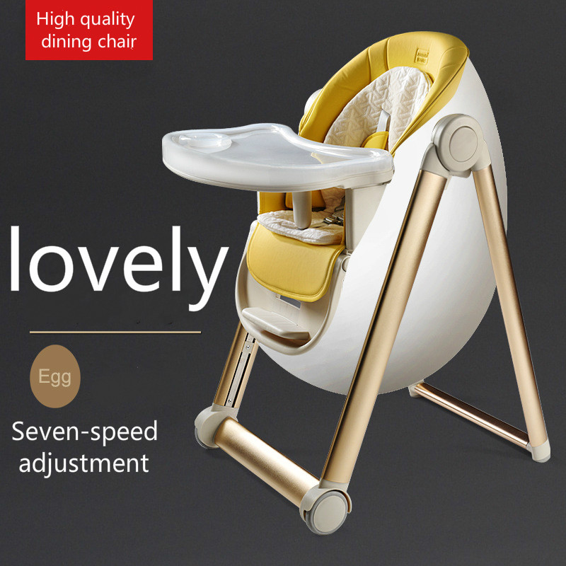 Aluminum Alloy Can Adjustable Children's Foldable Portable Seat Baby Multi-function Baby Dining Chair Kids Feeding High Chair
