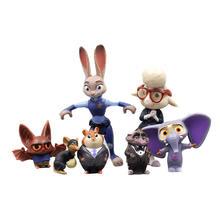 7 шт/компл игрушки из мультфильма «зверополис» disney pixar