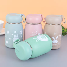 320ml Insulated Vacuum Water Bottle Stainless Steel Thermal Cup For Kids Stduent Cartoon Rabbit Decor Children Thermal Cup Flask(China)