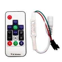 DC5 -24V 14Keys RGB Wireless Remote Mini Smart RF Controller For WS2812 WS2812b WS2811 Individually Addressable LED Strip Light