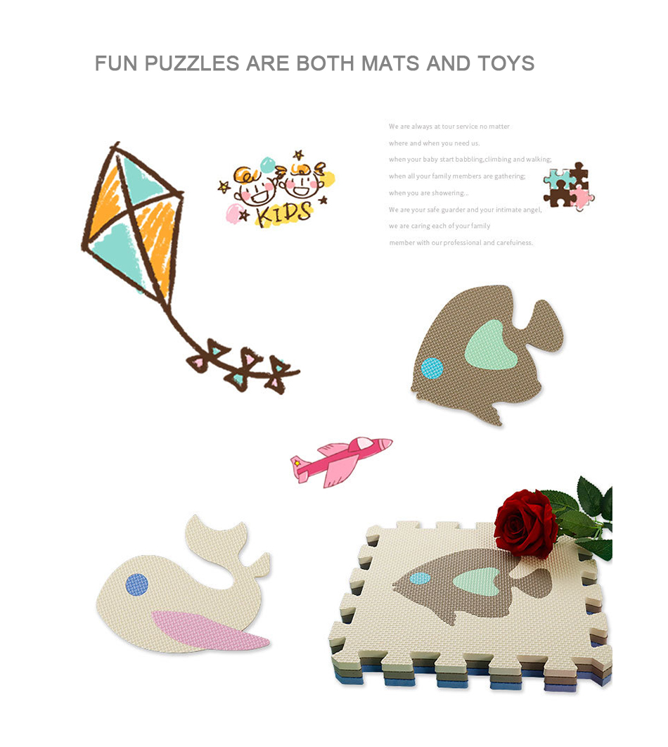 H1e32af07d824400ea8b8aeaf5cee3047A 25Pcs Kids Toys EVA Children's mat Foam Carpets Soft Floor Mat Puzzle Baby Play Mat Floor Developing Crawling Rugs With Fence