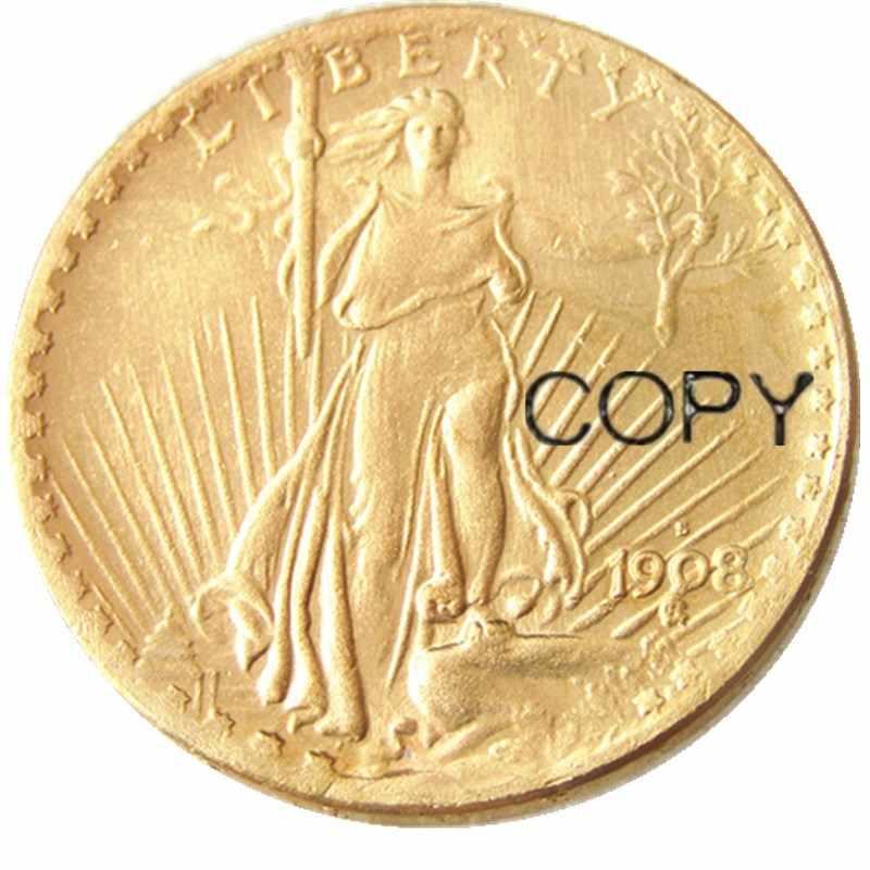 MỸ MỘT Bộ (1908-1932) PSD 13 CHIẾC Đại Bàng Tiền Kim Loại Kỷ Niệm Mạ Vàng Bản Sao Đồng Xu