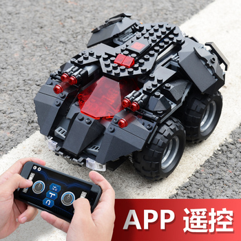 App Remote Controlled Batmobile Compatible With Lepining 76112 Batman Model Building Blocks RC Car Boy Gifts Toys For Children
