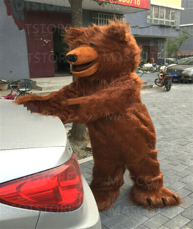 Halloween Brown Bear Mascot Costume Cosplay Party Clothing Carnival Adults