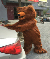 2019 Halloween Brown Bear Furry Fursuit Mascot Costume Cosplay Party Dress Clothing Carnival Unisex Adult Outfit