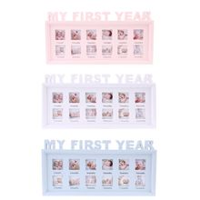 Photo-Frame Souvenirs Memory Pictures-Display Gift Growing Plastic 0-12-Month Baby-My-First-Year-DIY