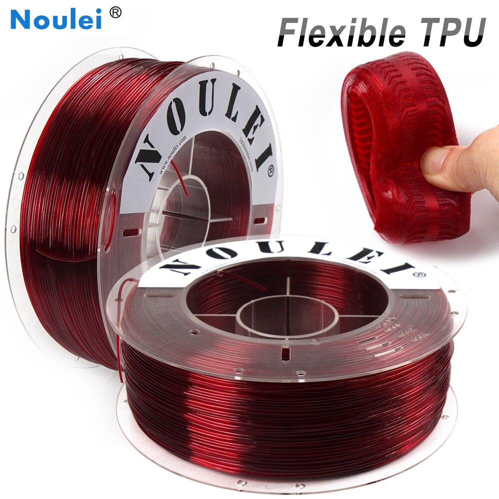 Impression 3D de Filament Flexible de Noulei 3D 1.75mm 1kg multicolore rouge vert Transparent pour le filamento matériel d'imprimante 3D